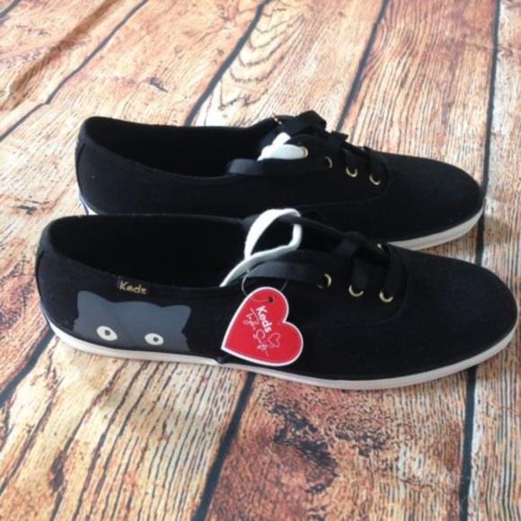 c38c02004f8e1 Keds Taylor Swift Black Sneaky Cat Sneakers  SALE